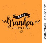 happy grandparents day.... | Shutterstock .eps vector #1153545724