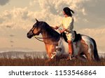 A Native American Man Rides Hi...