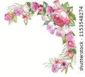 beautiful flowers corner...   Shutterstock . vector #1153548274