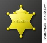 wild west sheriff metal gold... | Shutterstock . vector #1153551394