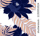 elegance pattern with flowers... | Shutterstock .eps vector #1153553524
