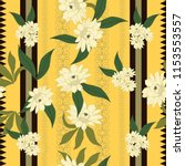elegance pattern with flowers... | Shutterstock .eps vector #1153553557