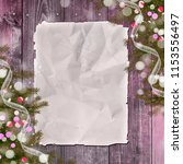 christmas greeting card with... | Shutterstock . vector #1153556497