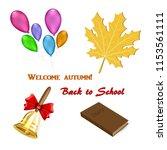 set of elements for september 1   Shutterstock .eps vector #1153561111
