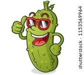 a groovy pickle cartoon...   Shutterstock .eps vector #1153569964