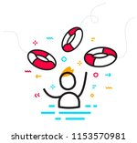 vector business illustration of ... | Shutterstock .eps vector #1153570981