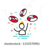 vector business illustration of ... | Shutterstock .eps vector #1153570981