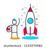 vector business illustration of ... | Shutterstock .eps vector #1153570984