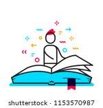 vector business illustration of ... | Shutterstock .eps vector #1153570987