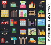 set of 25 icons such as park ...