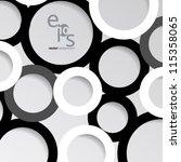 vector design   eps10 simple... | Shutterstock .eps vector #115358065