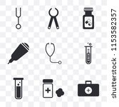 set of 9 simple transparency...   Shutterstock .eps vector #1153582357