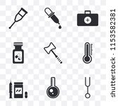 set of 9 simple transparency...   Shutterstock .eps vector #1153582381