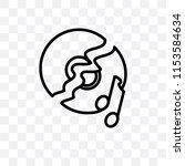 broken disc vector icon... | Shutterstock .eps vector #1153584634