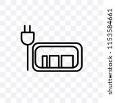 charged battery vector icon... | Shutterstock .eps vector #1153584661