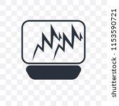 pulse line vector icon isolated ... | Shutterstock .eps vector #1153590721