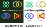 team infinite shape icon... | Shutterstock .eps vector #115359694