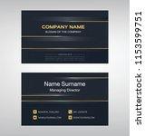 business model name card luxury ... | Shutterstock .eps vector #1153599751