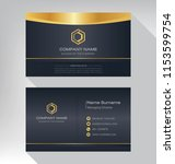 business model name card luxury ... | Shutterstock .eps vector #1153599754