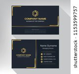 business model name card luxury ... | Shutterstock .eps vector #1153599757