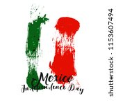 mexican independence day... | Shutterstock .eps vector #1153607494
