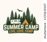 summer camp. vector... | Shutterstock .eps vector #1153610107