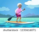 senior african american woman... | Shutterstock .eps vector #1153616071