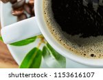 cup of coffee whit bean and...   Shutterstock . vector #1153616107