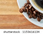 cup of coffee whit bean on...   Shutterstock . vector #1153616134