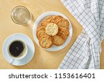 cup of black coffee whit...   Shutterstock . vector #1153616401