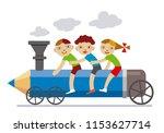 Three Little Children Riding...