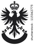 eagle coat of arms design  | Shutterstock .eps vector #115362775