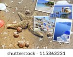 set of summer photos in... | Shutterstock . vector #115363231
