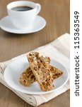 biscotti with nuts - stock photo