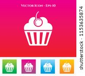 cup cake or muffins icon in... | Shutterstock .eps vector #1153635874
