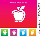 apple icon in colored square... | Shutterstock .eps vector #1153636771