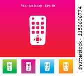 remote icon in colored square... | Shutterstock .eps vector #1153636774