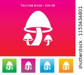 mushroom icon in colored square ... | Shutterstock .eps vector #1153636801