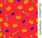 vector halloween seamless... | Shutterstock .eps vector #1153637761