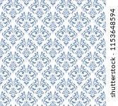 damask seamless pattern  vector ... | Shutterstock .eps vector #1153648594