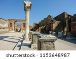 pompei  italy   august 1  2018  ... | Shutterstock . vector #1153648987