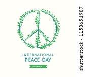 international peace day. vector ... | Shutterstock .eps vector #1153651987