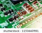 macro shot of a circuitboard...   Shutterstock . vector #1153660981