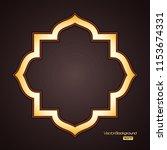 abstract 3d golden geometric... | Shutterstock .eps vector #1153674331