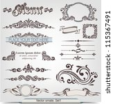 vector ornate. set 1 | Shutterstock .eps vector #115367491