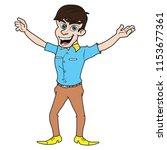 young celebrity star enjoying... | Shutterstock .eps vector #1153677361