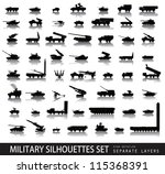 military vectors. tanks and... | Shutterstock .eps vector #115368391
