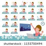 a set of women on desk work... | Shutterstock .eps vector #1153700494