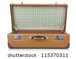 Open Suitcase Isolated On Whit...