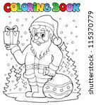 coloring book santa claus topic ... | Shutterstock .eps vector #115370779